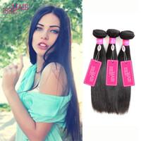 Wholesale Wholesale Premium Human Hair - 8A Peruvian Virgin Hair Straight Premium Peruvian Hair Bundles Straight 4 Bundles Peruvian Human Hair Extensions Pieces Tissage Bresilienne