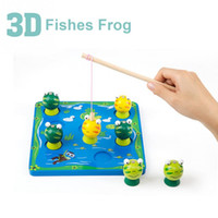 Wholesale Wooden Fishing Game - Wooden Fishing Game Kid Soft 3D Fish Frog Toy Children's gift Early Educational Game Tool