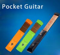 Wholesale Ebony Pick - Wholesale- Professional Three Colors Small Portable Plastic Gadget 6 Fret Strings Pick Allen Key Pocket Guitar Practice Tool For Beginner