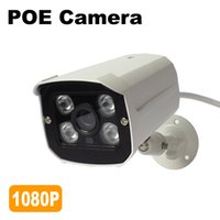 Real PO IP Camera 1080P Outdoor 48V IEEE802.3af / a Telecamera di videosorveglianza IP Home Security ONVIF Metallo impermeabile 4PCS LED