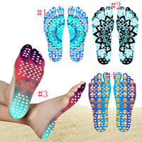 Beach Invisible Anti Slip Insoles Starry Emoji Smile Mandala Nakefit Isolamento térmico Soles impermeáveis ​​Stick On Feet Pads Socks JU182
