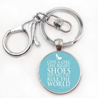 Wholesale Marilyn Monroe Shoes - women high heels keychain Give a girl the right shoes and she can conquer the world Marilyn Monroe key chains rings