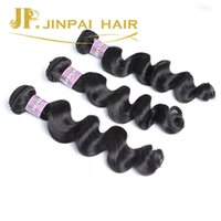 Wholesale Swiss Lace Indian Remy Closure - JP Hair Sexy Indian Human Hair Weave With Closure 4 Pieces Lot Natural Black Extension Swiss Lace Closure