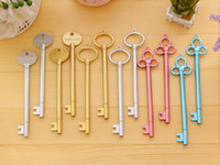stationär für kinder großhandel-Schlüsselform Gelschreiber Schule Stationäre Kreative Gelstift für Studenten Kinder Geschenke Bürobedarf für Schreiben Büro Schreibwaren
