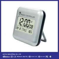 Wholesale Clock Radio Weather - Wholesale-Home Decoration Wireless Weather Station Radio Controlled Alarm Clock With Temperature (DCF)