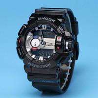Wholesale Designer Watches Led - New designer fashion casual men g sport watches LED waterproof swim GBA-400 G100 watch with Original box