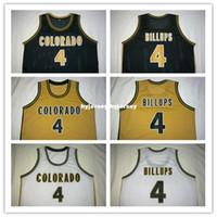 Wholesale Mcdonald S - Cheap #4 Chauncey Billups Colorado Buffaloes College Basketball Jerseys Retro Throwback Stitched McDonald ALL AMERICAN jersey