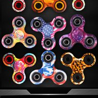 In magazzino LED Spinning Light Hand Spinners Stampa Fidget Spinner EDC Triangolo Bandiera Dita Spinning Decompression Dita Anxiety Toy HandSpinner