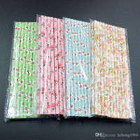 Wholesale paper straws stars for sale - Group buy Eco Friendly Straw Food Grade Paper Multi Color Stripe Tubularis Wavy Lines Dot Five Pointed Star Straws For Juice Milk xm R