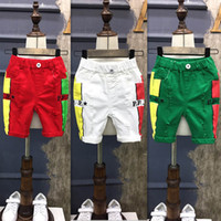 Wholesale Unisex Skinny Jeans - Summer New Children Shorts Korean boys Girls Ripped Jeans hole pants kids Fashion Jeans baby Short Jeans Boys Kids Clothes casual pants A654