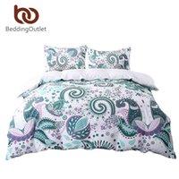 Wholesale King Duvet Set Paisley - Wholesale- BeddingOutlet Green Bedding Set Floral Paisley Duvet Cover White 200 Thread Count Soft Bedclothes Multi Sizes Bed Set