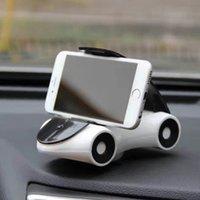 Wholesale Wholesale Modle Cars - Mobile phone holder creative car modle Magnet bracket 360 degrees magnetic phone holder rubber sheet Car phone holder Car navigation frame
