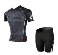 Wholesale Cube Cycling Set - 2017 High quality summer Cube Pro cycling jersey Ropa ciclismo and (bib) shorts set XXS-6XL Can be mixed size#A6057