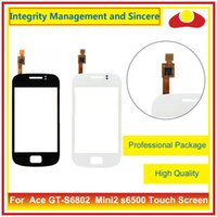 Wholesale Galaxy Mini2 - For Samsung Galaxy Ace GT-S6802 S6802 Mini2 s6500 Touch Screen Digitizer Outer Glass Lens Panel Free Shipping