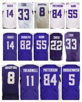 cartoon vikings - mens Minnesota Viking Dalvin Cook Teddy Bridgewater Laquon Treadwell Stefon Diggs Harrison Smith Anthony Barr elite jerseys