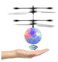 Wholesale Infrared Lighting Control - RC Toy RC Flying Ball Infrared Induction Helicopter Ball with Rainbow Shinning LED Lights and Remote Control Flying Toys for Kids DHL FREE