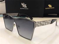 Wholesale Super Big Sunglasses - Luxury Sunglasses Italy SUPER SUNG Top Quality Alloy Sunglasses Square Big Full Frame Men Women Brand Designer UV400 Protection With Case