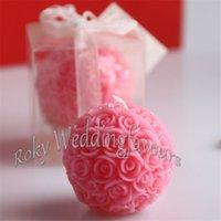 vela rosa de la boda de la bola al por mayor-Envío gratis 2