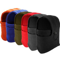 Wholesale Head Scarf Camping - Winter Hat Caps Thickening Polar Fleece Men Windproof Ski Mask Warm Head Scarves Cycling Headgear Outdoor Camping Hiking Bonnet FreeShipping