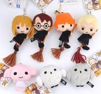 Wholesale Dolls Harry Potter - Set of 7 Hot Cartoon Harry Potter Q Plush Doll Toy Pendant 8-12CM Anime Harry Potter Plush Pendant Gifts