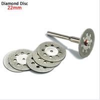 Wholesale Dremel Metal Cutting - 5x 22mm dremel accessories diamond grinding wheel saw mini circular saw cutting disc dremel rotary tool diamond disc for stone