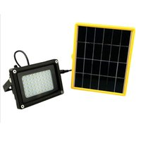 Vente en gros-Led Solar Powered Street Light Outdoor Security Floodlight Waterproof Spot Light Lampe blanche pour pelouse, jardin, route, hôtel, place