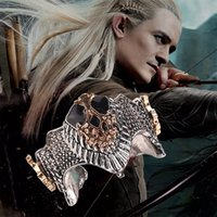 Wholesale Lord Rings Crown - Wholesale- The Hobbit Lord of the Rings Aragorn Crown Ring For Men and Women