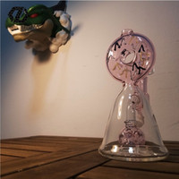 Wholesale Cookie Glass - ZD Glass newest funny cookie function bong smoking pipe Dab Rig new design With percolator honeycomb Perc glass water Glass bong