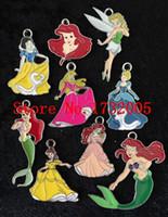 Wholesale Metal Pendants Mixed - New Mixed Cartoon Princess Metal Charm pendants Jewelry Making Party Gifts XT02