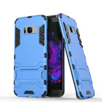 Wholesale armour hybrid shockproof case online – custom Armour Case for Samsung S8 S8Plus with Foldable Kickstand Hybrid Gravity Shockproof PC TPU Phone Case Protective Cover