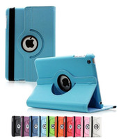 Wholesale Ipad Air Sleep - For Apple Ipad Pro 12.9 9.7 inch 360 Degree Rotating PU Leather Stand Case Cover with Smart Auto Sleep Awake for iPad 2 3 4 Mini 1 2 3 Air 2