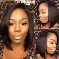 Wholesale Cheap Wigs Free Delivery - Bob Lace Front Wigs For Black Women Cheap Price Peruvian Hair Tangle And Shedding Free Lace Wigs Fast Delivery