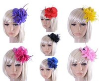 Wholesale Top Hat Clip 13cm - Free shipping lady Fascinator party cocktail dress up with hair clip mini top hat flower design 13cm diameter Women Hair Accessories
