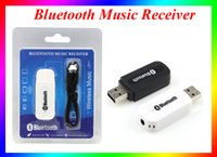 Wholesale Usb Output Bluetooth Music - Universal 3.5mm BT-163 Bluetooth Audio Music Receiver USB Output Audio Cable for PC Speaker iPhone,iPad,iPod,android