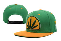 Wholesale Popping Snapback - HOT! Colorful Baseball Hat caps snapbacks Hip-hop Rasta Leaf Pot Flat Pop Bill Snapback Baseball Cap hats
