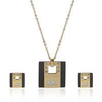 Wholesale Unique Jewelry Sets - TL Unique Designer Link Chain Brand Jewelry Set Stainless Steel Famous Brand Hot Sale Never Fade High Quality Gift