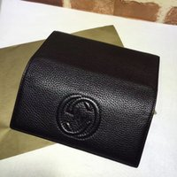 Wholesale Checkbook Cover Leather Black - Famous fashion brand super quality female handbag high quality leather letter embossed purse long cover luxury bag