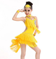 Wholesale Latin Ballroom Dresses For Sale - Q228 Kid Girls Latin Dance Costumes Dresses for Sale Ballroom Dance Costume Lace Latin Dance Dress for Girls