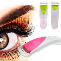 Wholesale Grip Eyelash - Electric Eye Lashes Curler Automatic Long Lasting Heated Eyelash Makeup Kit Curler Grip Pincel Maquiagem Eyelash Curler