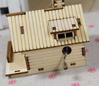 toy cabin prices - 3D stereo puzzle, hand cabin, wooden music box, handicraft, children DIY puzzle toy, music box, gift