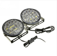 2Pcs 12V 18 LED ringsum Auto, das Tagespositionslampe DRL Nebel-Lampen-helles weißes Auto LED-Offroad-Arbeits-Licht fährt