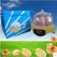 Wholesale Egg Incubator Temperature Controller - Freeshipping 7 Mini Egg Incubator Poultry Bird Pet Hatcher Digital Clear Temperature Control MYY
