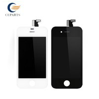 Wholesale Lcd Iphone 4s Black - Top AAA Replacement For Apple iPhone 4 4s Lcd Display LCD Digitizer Touch Screen Assembly No Dead Pixel Black White Fast Free Shipping