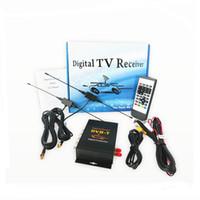 Wholesale Digital Tv Receiver Europe - car DVB-T (MPEG-4)dual-tuner digital TV receiver H618 for Europe,Middle East (Iran, Israel) , Australia 140-190KM H