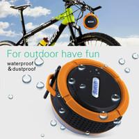 böğürtlen taşınabilir hoparlör toptan satış-C6 IPX7 Açık Spor Duş Taşınabilir Su Geçirmez Kablosuz Bluetooth Hoparlör Vantuz Akıllı Telefon PC Için Handsfree Ses Kutusu telefon