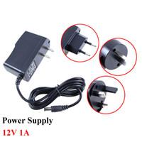 Wholesale Eu Uk Plug Adapter Black - Umlight1688 AC DC Adapter DC 12V 1A AC 100-240V Converter Adapter Charger Power Converter Supply US EU AU UK Plug Black Wholesale