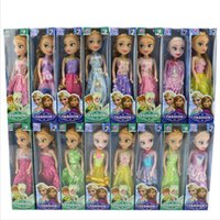 """Wholesale Diy Princess Girl Gifts - 20 pcs lot Forzen Els aAnn a Princess festival edition 7"""" inches Vinyl Material Girl doll toy Kids Preferred Gift"""
