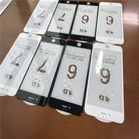 Wholesale 5d Matte Box - New Arrival 5D 4D 3D Full Cover Screen Protector For iPhone 7 PLUS I7 I6 6S Plus High-quality 3D Curved Tempered Glass With Retail Box