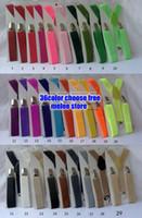 clips de niña de fábrica al por mayor-DHL free-Kids straps Toddlers Suspender Clip-on Y-Back Niños Chicas Niños Elásticos Wedding Suspender Factory Sale 36 colores