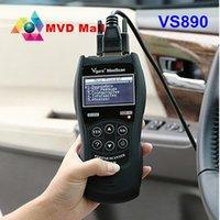 Wholesale Universal Auto Scanner Multi Language - Wholesale- Top Quality Vgate VS890 Universal Auto OBD2 Code Scanner VS 890 Support Multi-languages VS-890 Engine Fault Code Reader Analyzer